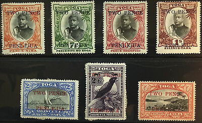 TONGA  63 - 69  Very  Nice  Mint  Light  Hinged  Set  OD 203
