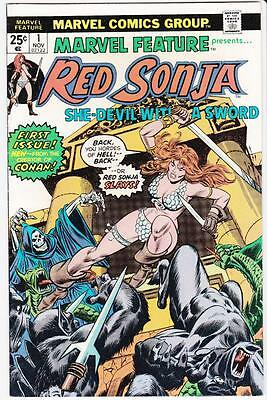 Marvel Feature Presents #1 1975 Red Sonja Story Dick Giordano First Print FN 6.0