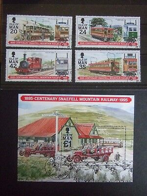 "VERY FINE USED FDI ISLE of MAN "" SNAEFELL RAILWAY "" Inc £1 M/S  - SG. 634/38"