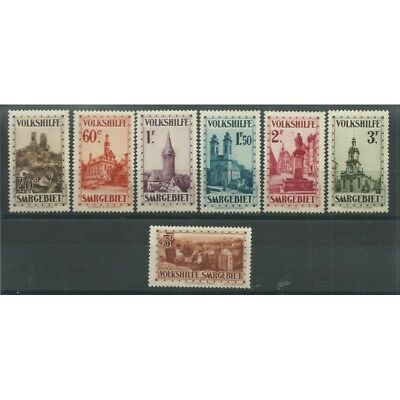1932 Germania Occupazioni Sarre - Saar Beneficenza 7 V Mnh Mf27689