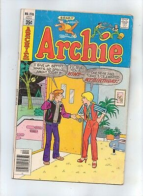 ARCHIE No 276 with MR. WEATHERBEE, BETTY and VERONICA