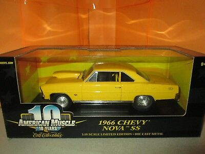 Ertl American Muscle 1966 Chevy Nova SS Limited Edition 1:18 Diecast in Box