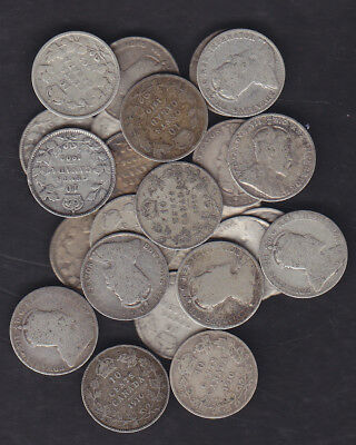 1902-10 Canada 10 Cents Silver Coin Lot Of 25