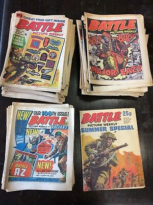 """Set Of 85 """"Battle Picture Weekly"""" Comics Issue #1- #130 1975-77 (46 MISSING)"""
