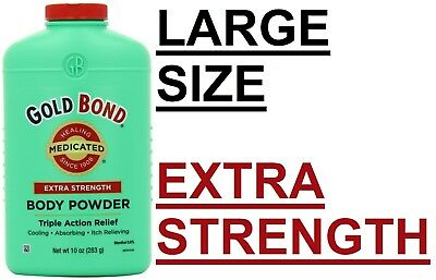 Gold Bond Extra Strength Triple Action Relief Medicated Body Powder Green 10oz