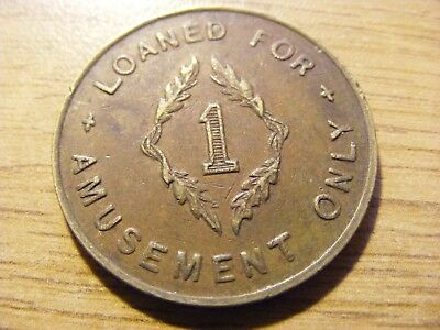 A Value 1 Machine Token - nice condition - 30mm Dia