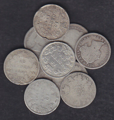 1858-1901 Canada 10 Cents Silver Coins Lot Of 10