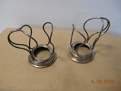 2 Vtg Soda Fountain Coca Cola Metal Wire Holders Am. Soda Ft. Co. EXTRA w Handle