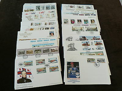 Isle of Man First Day Covers, Various Sold Individually, 1988 - 1992, No Address