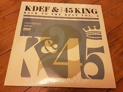 k-def & the 45 king redef records hip hop instrumentals back to the beat vol2