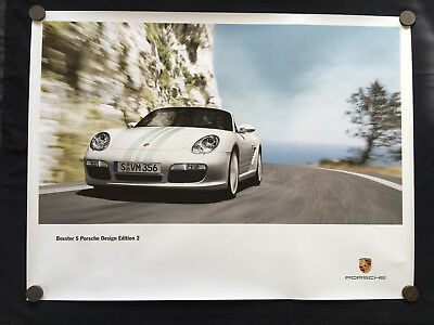 PORSCHE DESIGN EDITION 2 BOXSTER S LIMITED EDITION (PDE 2) SHOWROOM POSTER 2009b