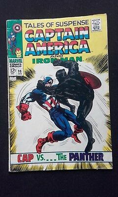 Tales of Suspense #98 / Captain America vs Black Panther (1968) Kirby Art/ Fine