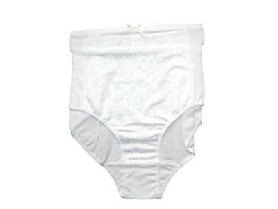 Marks /& Spencer White Jacquard Front Full Size Knickers