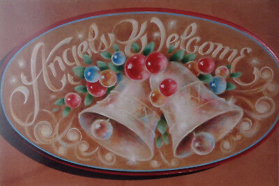 """Shirley Wilson beautiful tole painting pattern """"Angels Welcome"""""""