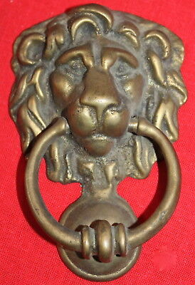 Brass Vintage Lion Head Door Knocker