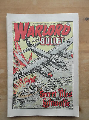 WARLORD and BULLET COMIC No.222 23 DECEMBER 1978 CAPTAIN LORD LOUIS MOUNTBATTEN