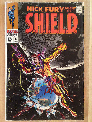 NICK FURY AGENT OF S.H.I.E.L.D. SHIELD #6 VG 1968 Jim Steranko Cover L@@K WOW!!!