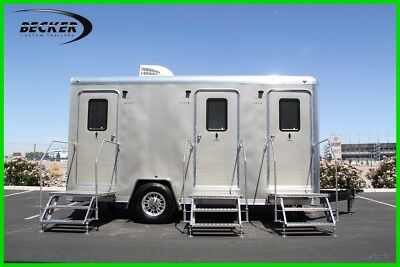In Stock! 2018 3 Stall Luxury Mobile Restroom - Bathroom Trailer - Free Shipping