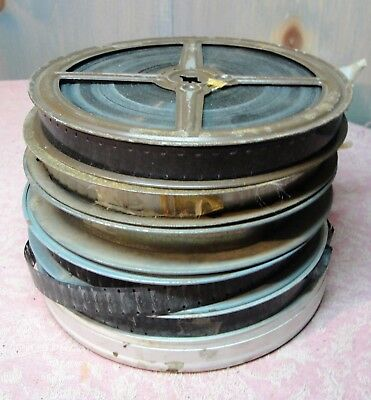 Vintage Mystery Lot of 6 Reels of 16mm Home Movies Color and Black & White