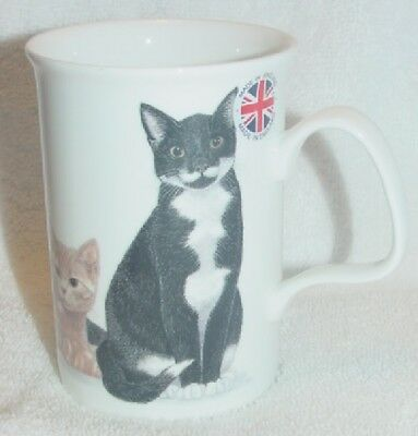 Domestic Cat Cup Fine Bone China Henley Collection Nwob England