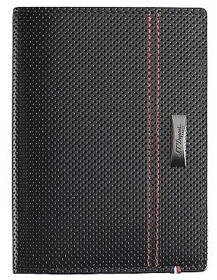S.T. Dupont McLaren 170412MC Glossy Black Perforated Leather Passport Holder