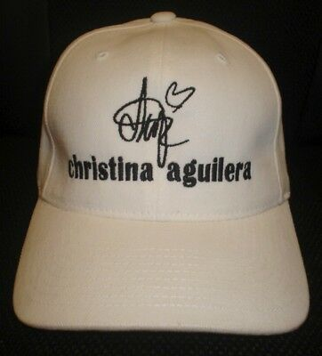 Christina Aguilera Cap / Hat With Stitched Autograph