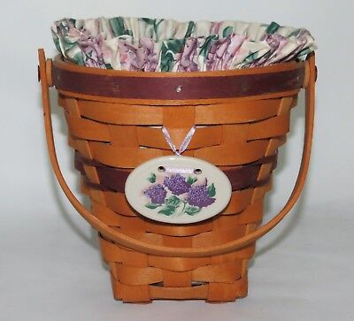 Longaberger 1994 May Series Lilac Basket Combo with Tie On