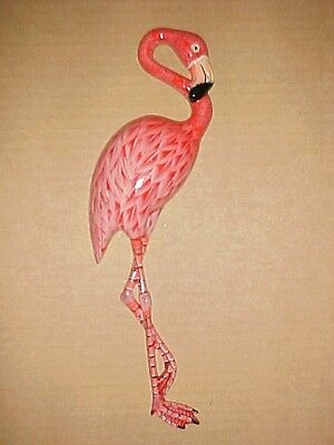 "10"" FLAMINGOS Wall Decor Beach Tropical Bath Nursery Birds Ocean Nautical"