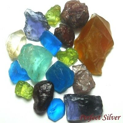 25.13 ct. 16 Pcs. 100% Natural Mined Rough Fancy Gems @ FREE SHIP