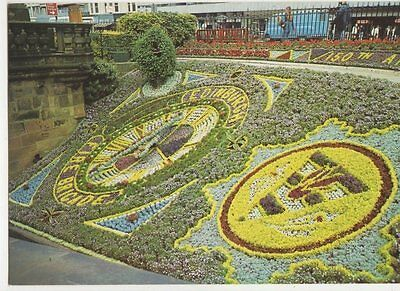Floral Clock Princes Street Gardens Edinburgh Old Postcard 272a