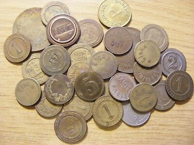 A Collection of 30 old Tokens - ok condition  - some duplicates