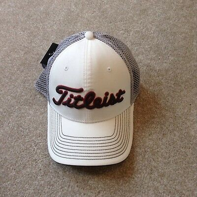Titleist Tour Mesh White & Black Fitted Cap