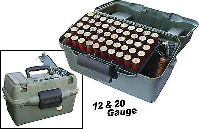 MTM Deluxe Shotshell Case Holds 100 Rounds 12/20 Camouflage Ammo Box: SF100D-09