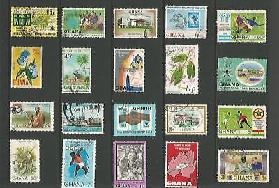 y5733 Ghana /  A Small Collection  Early & Modern Used