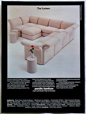 1976 The System Sofa From Pacific Furniture Magazine Print Ad Tear Out
