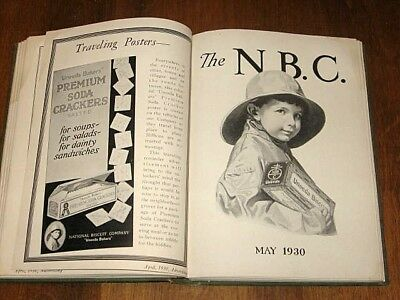 The N. B. C. 1930. NATIONAL BISCUIT COMPANY. 12 Issues Bound Company Publ.