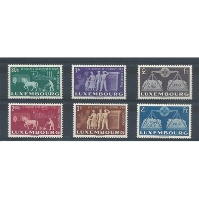 1951 Luxembourg Series Will Be Blood D Europa Unif N 443-448 6 V Mnh Mf9708