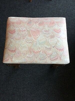 Vintage Walnut Queen Ann Style Dressing Table Stool