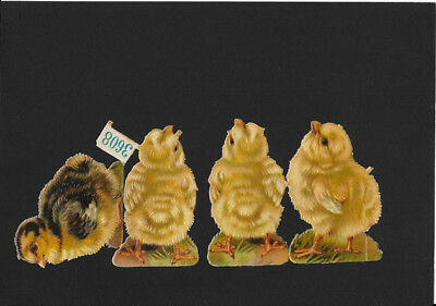 Victorian Die Cut Scrap - Easter Chicks
