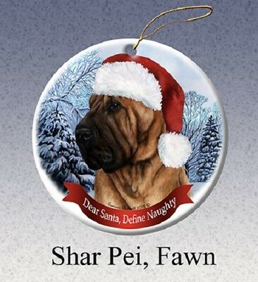 Define Naughty Ornament - Fawn Shar Pei