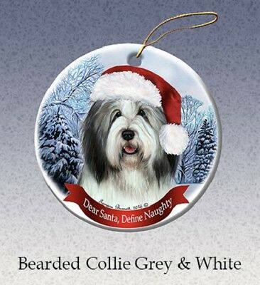 Define Naughty Ornament - Bearded Collie