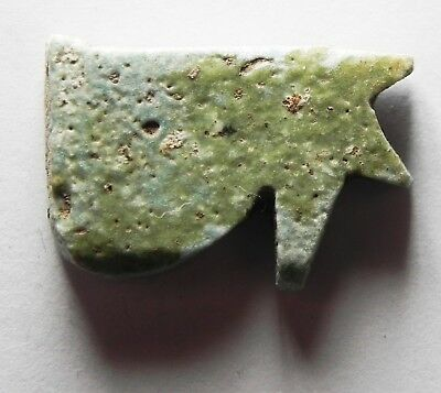 Zurqieh -Af3050- Ancient Egypt , Faience Eye Of Horus Amulet. 600 - 300 B.c