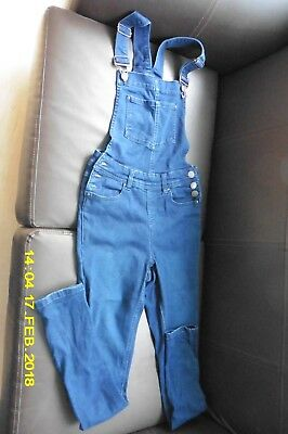 Girls New Look 915 Denim Dungaree's age 13 yrs height 158cm