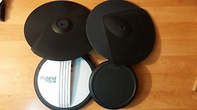 Roland Cymbal Pads CY-6 und CY-8 Tom Pad PD-7 + Snare Pad PD-9 (4 Teile!)