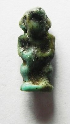 Zurqieh -As3054- Ancient Egypt , Faience Amulet Of Pataikos. 600 - 300 B.c