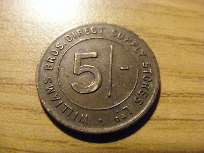 A Williams Brothers 5 Shilling Token  - Nice Condition - 23mm Dia