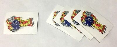 Pabst Blue Ribbon Beer PBR ART Limited Edition Pizza Oven Mitt Sticker Lot of 5