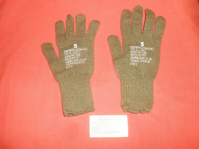 US ARMY: KOREAN WAR GLOVES WITH TAG never used - green
