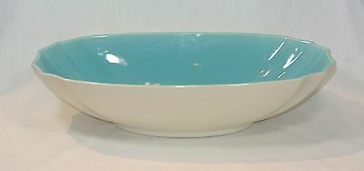 FRANCISCAN Gladding McBean CAPISTRANO WARE Large Turquoise and White Bowl GMB
