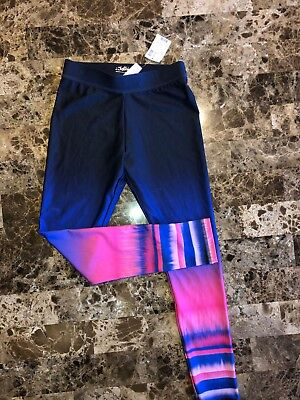 NWT Girls JUSTICE Active Ombre Leggings Pants Size 8